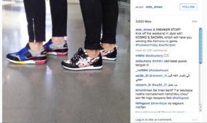 Jogger designs features on Aldo Instagram